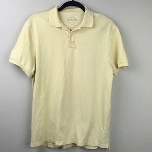 J. Crew Cotton Polo Shirt Pale Yellow Short Sleeve